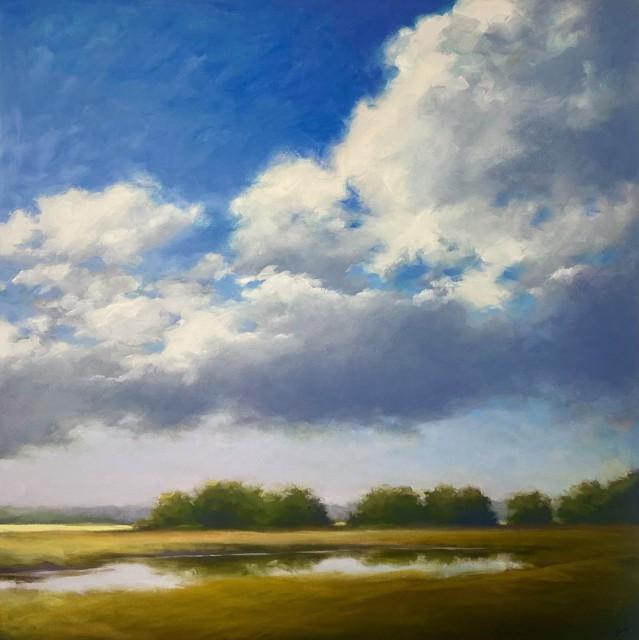"Margaret Gerding   Summer's Blue   Oil on Canvas   36"" X 36""   Sold"