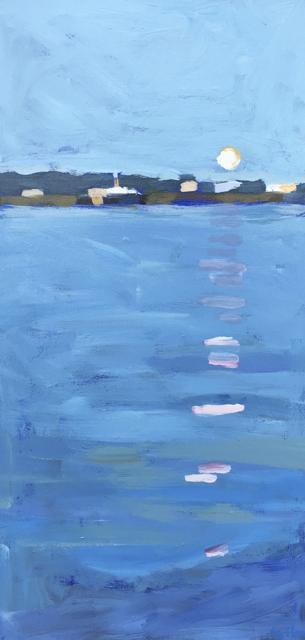 "Liz Hoag | Casco Bay Ferry | Acrylic | 20"" X 10"" | Sold"