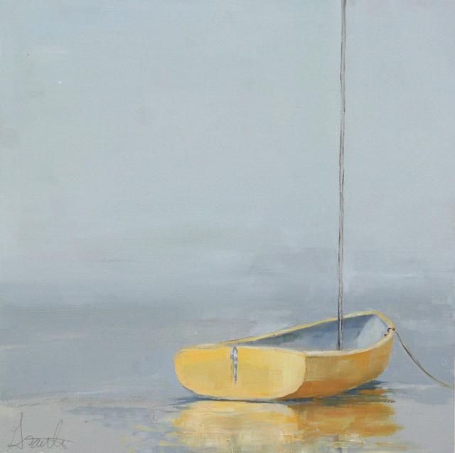 "Ellen Welch Granter | Sweet Yellow | Oil on Panel | 12"" X 12"" | Sold"