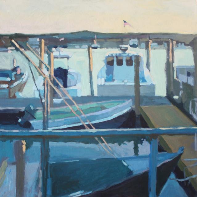 "Liz Hoag | Working Boats | Acrylic | 36"" X 36"" | Sold"
