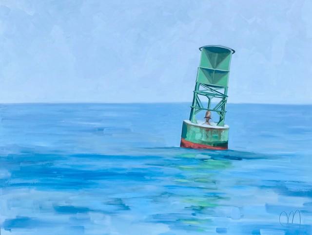 "Jill Matthews | Kennebunk River Bell Buoy | Oil on Canvas | 30"" X 40"" | $2,995.00"