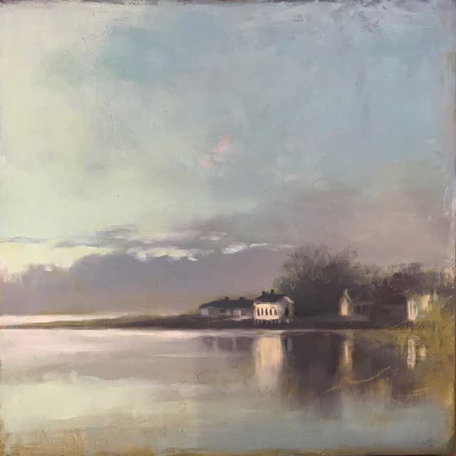"Margaret Gerding | Colors of Dawn | Oil on Panel | 10"" X 10"" 
