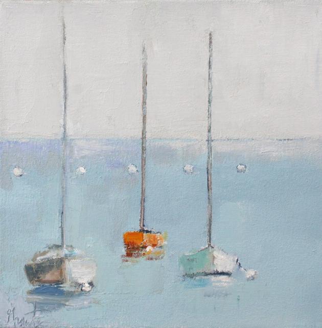 "Ellen Welch Granter | Treat | Oil on Canvas | 12"" X 12"" | Sold"