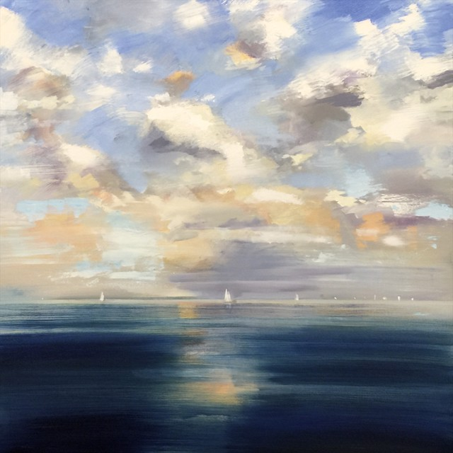 "Craig Mooney | Deep Blue | Oil | 30"" X 30"" 