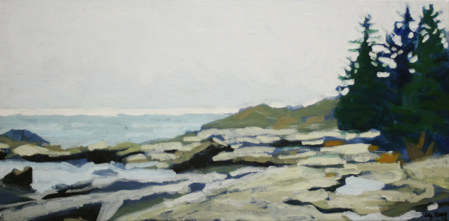 "Liz Hoag | Long Horizon | Acrylic on Canvas | 10"" X 20"" 