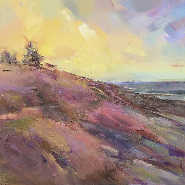 "Holly Ready | Seaside Path | Oil on Canvas | 18"" X 18"" | $2,000.00"