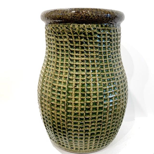 "Richard Winslow | Tall Vase in Green | Ceramic | 9.5"" X 6"" | $80.00"