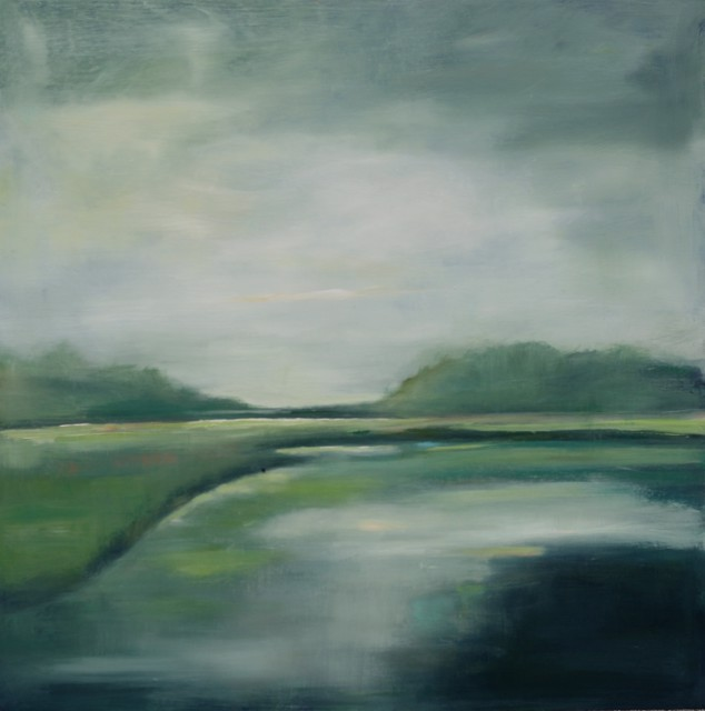 "Ingunn Milla Joergensen | Quiet by the River | Oil on Canvas | 36"" X 36"" 