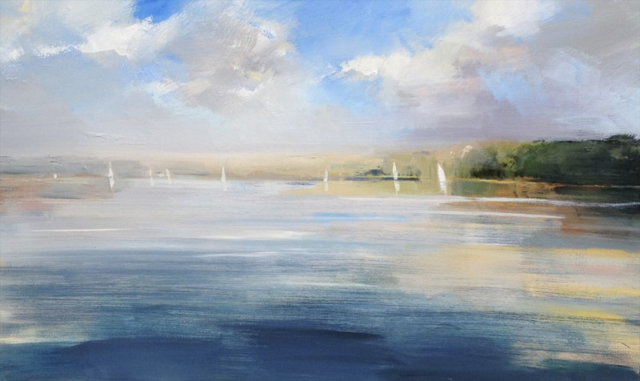 "Craig Mooney | Salt Pond | Oil | 30"" X 48"" 