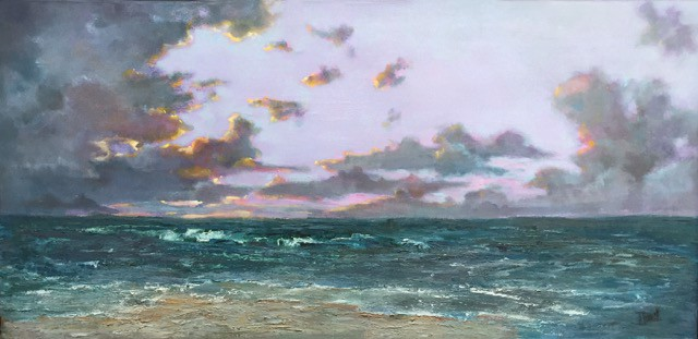 "Julie Houck | A Distant Storm | Oil on Linen | 24"" X 48"" | $4,200.00"
