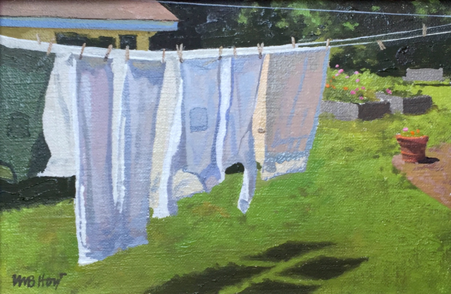 "William B. Hoyt | Laundry | Oil | 6"" X 8"" 