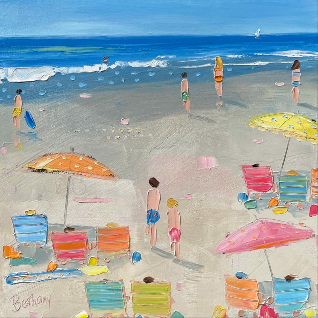 """Bethany Harper Williams   Summertime!   Oil on Canvas   16"""" X 16""""   Sold"""