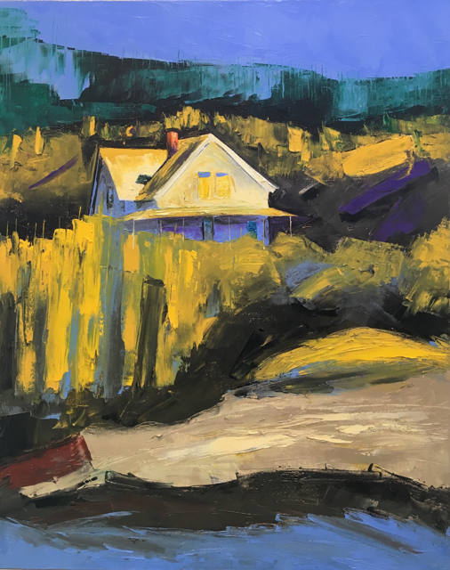 "Janis H. Sanders | Island Edge | Oil on Canvas | 20"" X 16"" 