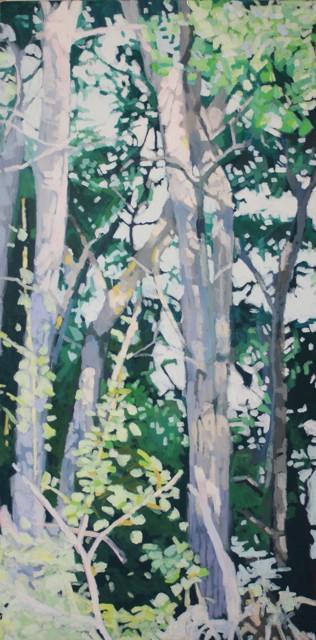 "Liz Hoag | Water's Edge #2 | Acrylic on Canvas | 48"" X 24"" | Sold"