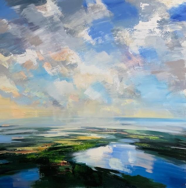 "Craig Mooney   Land of Light   Oil on Canvas   46"" X 46""   Sold"