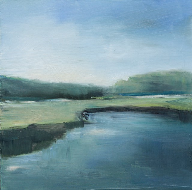 "Ingunn Milla Joergensen | Kennebunk River Sketch 2 | Oil on Canvas | 10"" X 10"" 