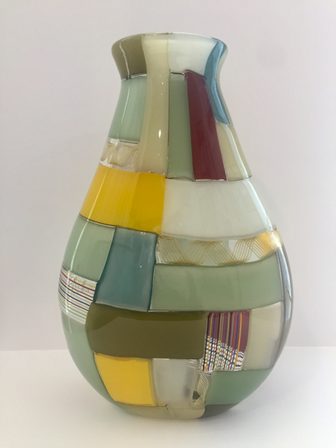 Crazy Quilt Vase, Large