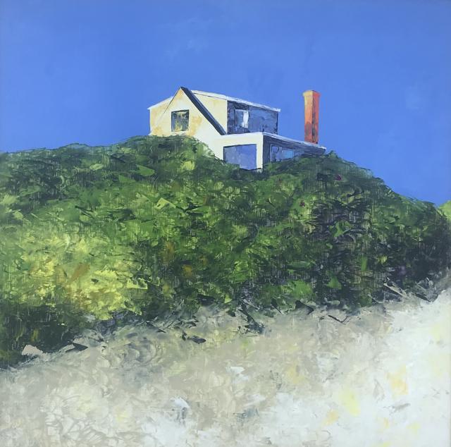 "Janis H. Sanders | A Beach House | Oil | 36"" X 36"" | Sold"
