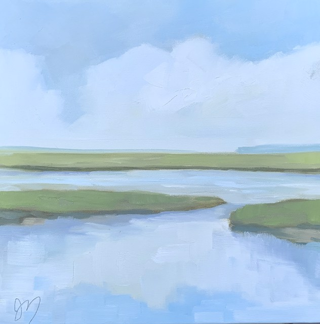 "Jill Matthews | Creek Day | Oil on Canvas | 12"" X 12"" | Sold"