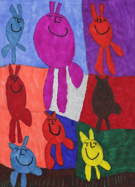 Bunny Rabbits Hopping