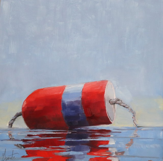 "Ellen Welch Granter | Flag | Oil on Panel | 12"" X 12"" 