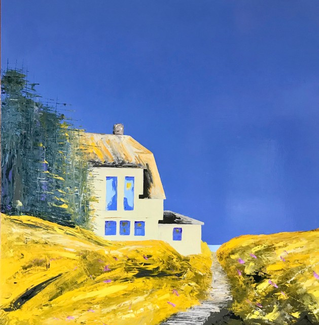 "Janis H. Sanders | Summer Sunshine | Oil on Panel | 30"" X 30"" | Sold"