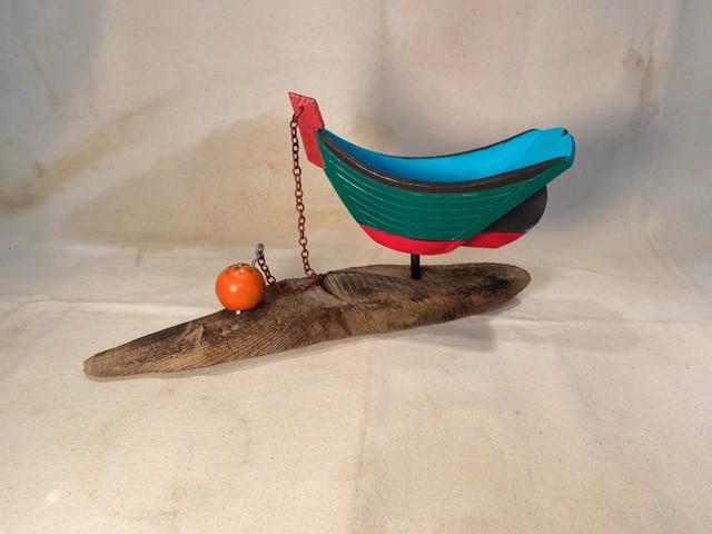 Mooring Vessel Mounted on Driftwood