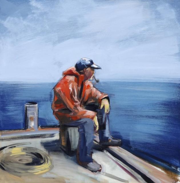 "Craig Mooney | Storm Watch | Oil | 36"" X 36"" | Sold"