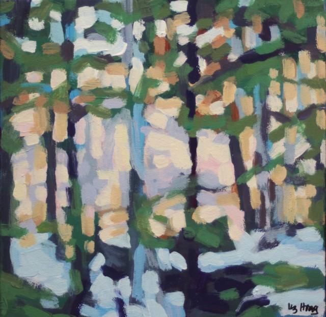 "Liz Hoag | North Woods | Acrylic on Canvas | 10"" X 10"" | Sold"
