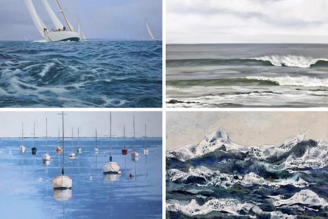 William B. Hoyt, Ellen W. Granter, Jill Matthews & Kathy Ostrander Roberts, WATER @ Shows on Maine Art Hill