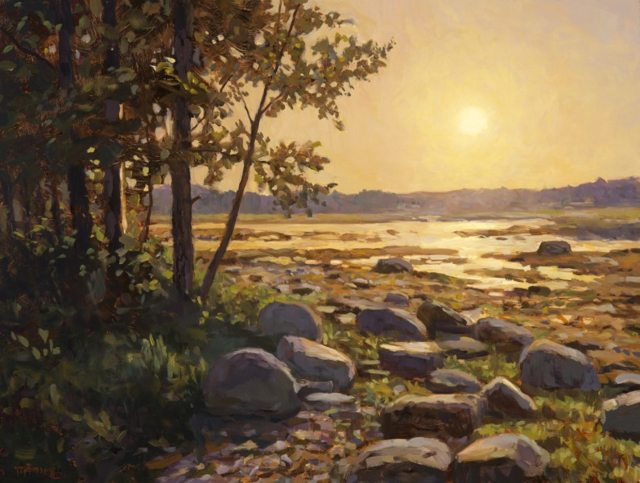 "Scott Moore | July Morning | Oil on Panel | 24"" X 32"" 