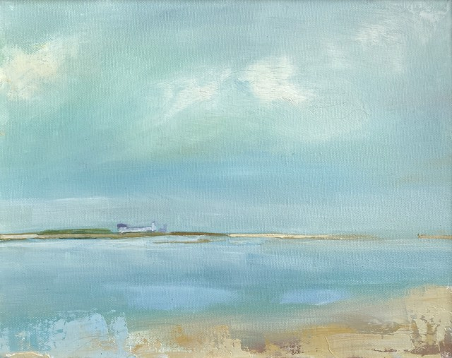 "Claire Bigbee | Goat's Island, Cape Porpoise | Oil on Canvas | 11"" X 14"" 