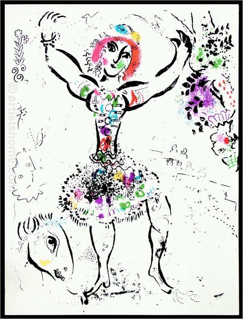 Woman Juggler from Chagall Lithographs II, 1960