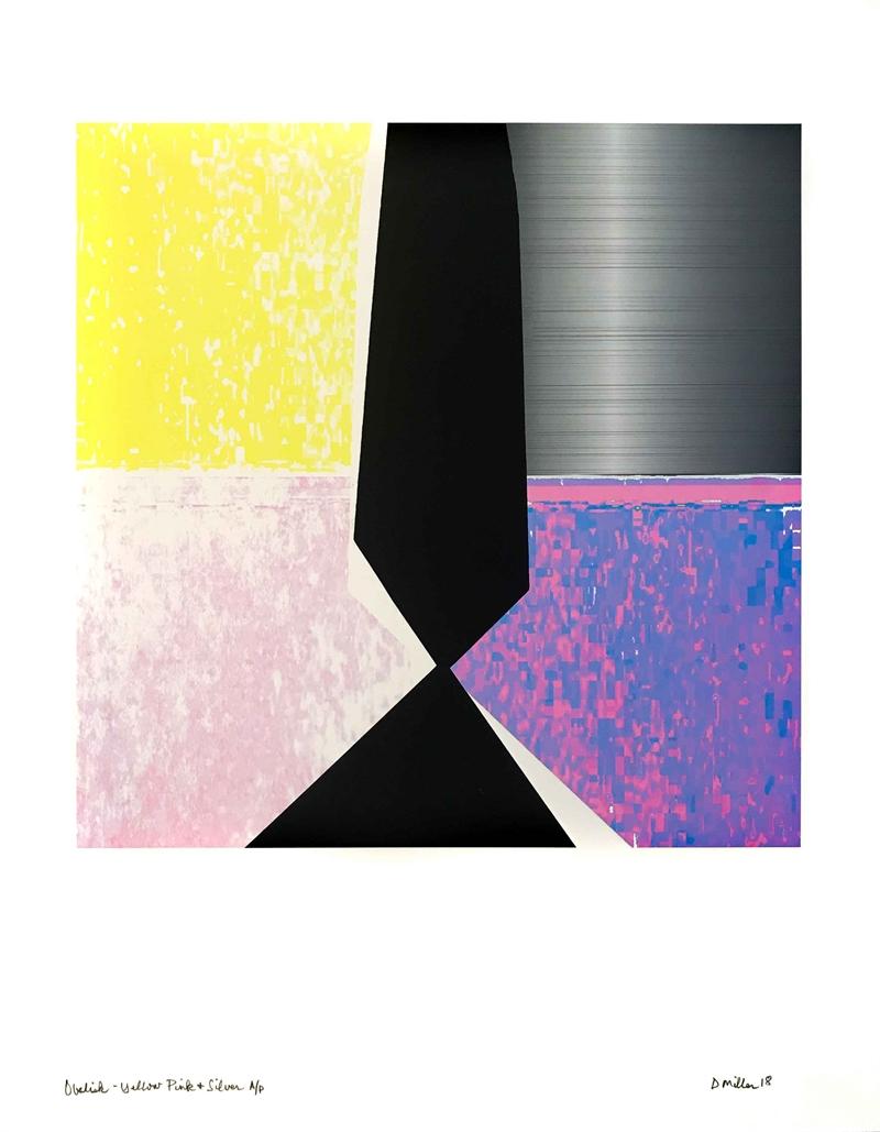 Obelisk- Yellow Pink & Silver