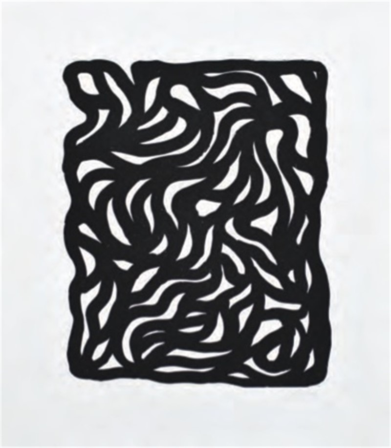 Loops and Curves (Small) Black (3/45), 1999