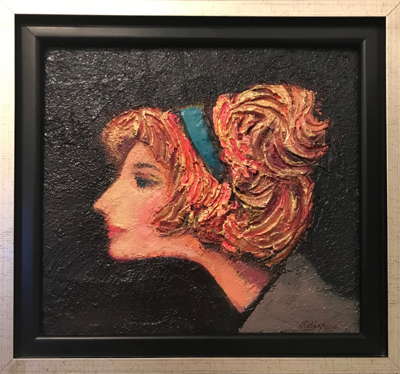 Model in Profile, Gold Hair