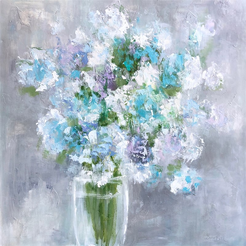 Aqua Blue Hydrangeas