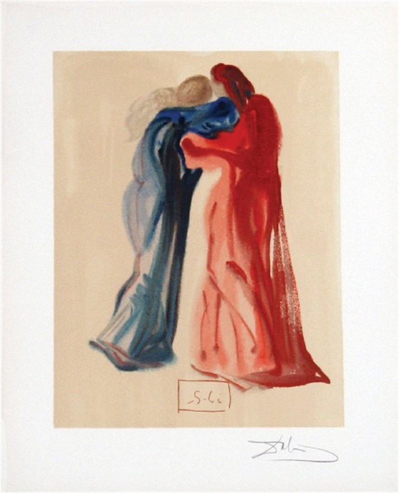 Purgatory Canto 29: Meeting of Dante and Beatrice from The Divine Comedy, 1960