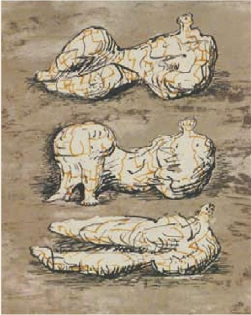 Three Reclining Figures (1/130), 1971