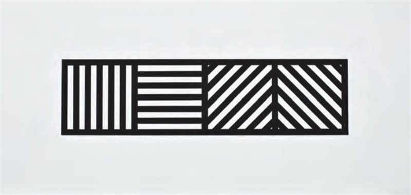 Lines in Four Directions, Black/White (33/100), 2004