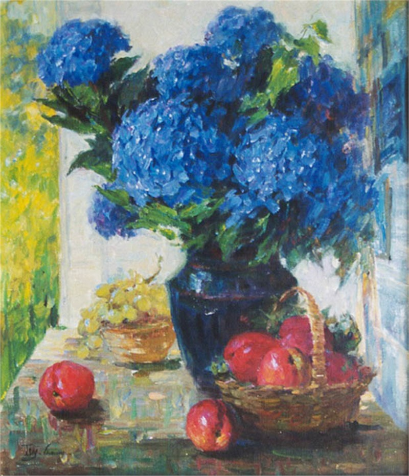 Hydrangeas & Apple, 2019