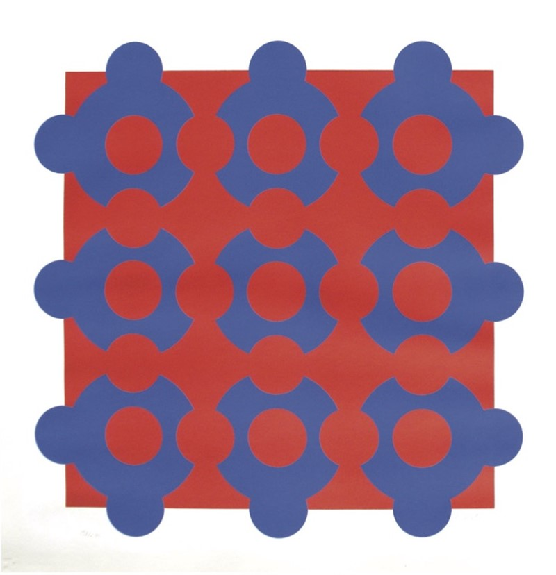 Procion-Red/Blue (1/290), 1968