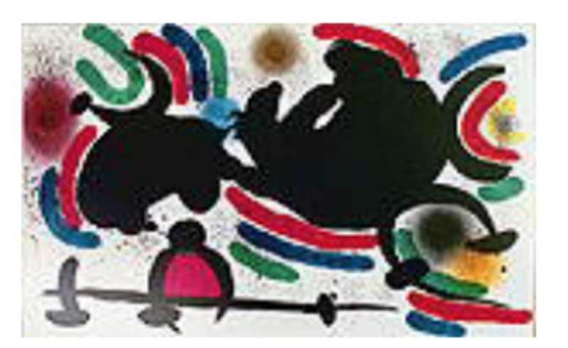 Miro Lithograph Volume I Plate IV, 1972