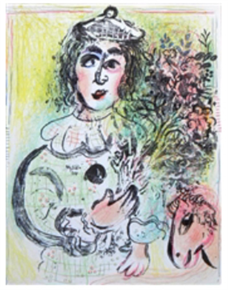 Le Clown Amoureux from Chagall Lithographs I, 1960