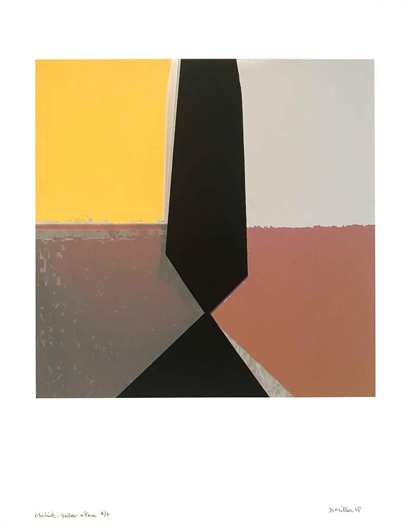 Obelisk- Yellow & Rose