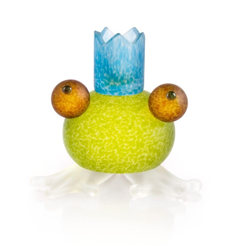 Frosch Frog Candle Holder Lime Green 24-01-58