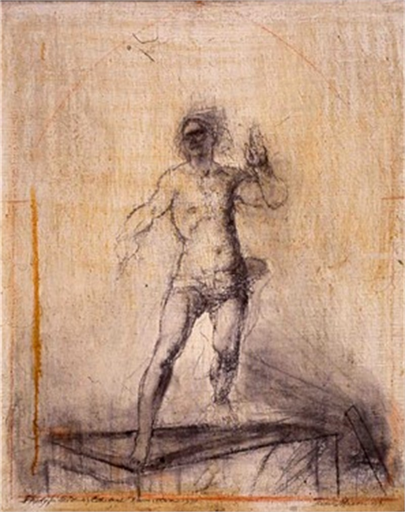 Original Study for Resurrection of Christ for St. Patrick's Old Cathedral by Frank Mason