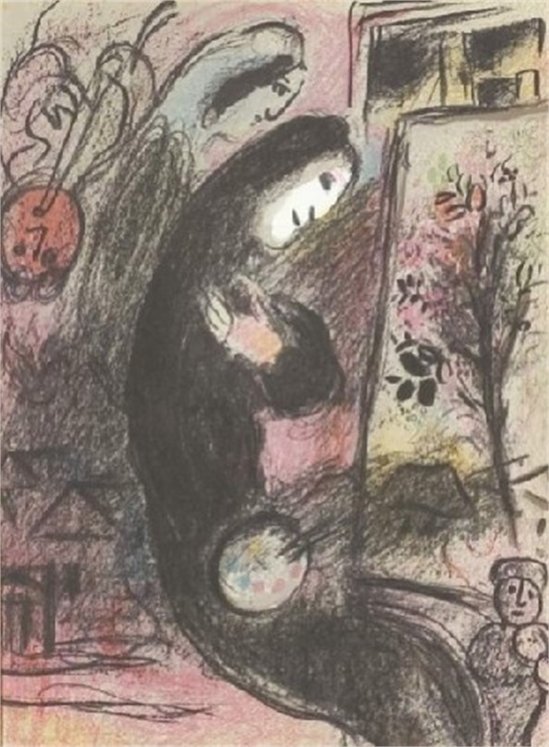 Inspiration from Chagall Lithographs II, 1963