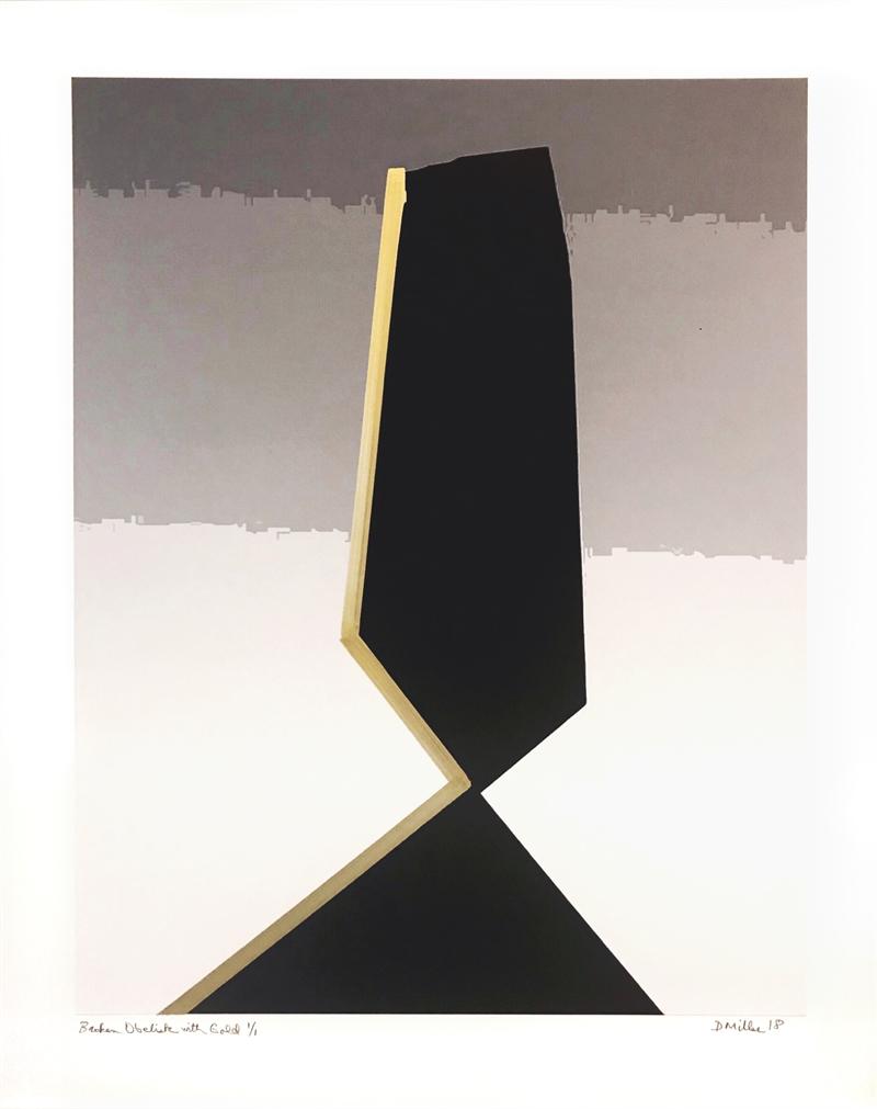 Broken Obelisk with Gold