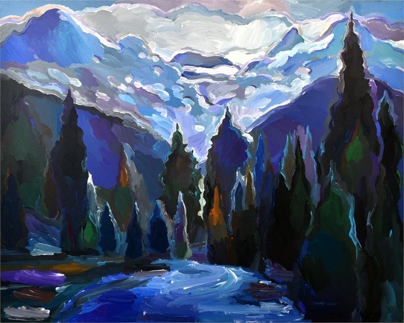Cascade of Blue